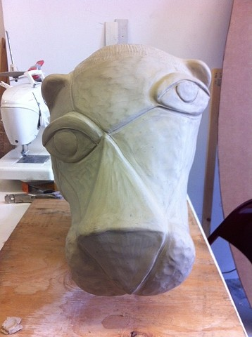 Sculpt for Pink Panther Mask