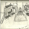 Preliminary drawing for steel and aluminum sculpture structure