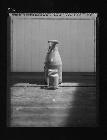Milk Bottle and Jar