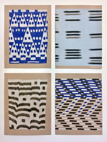 Four Ikat Studies