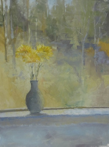 Window With Yellow Flowers