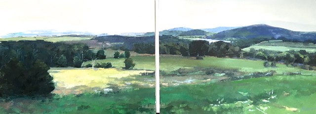 Connecticut Hills Diptych - SOLD