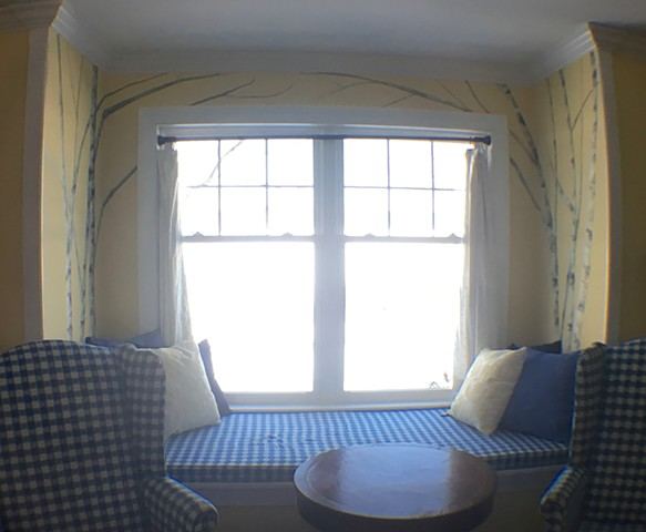 Window Seat Mural - SOLD