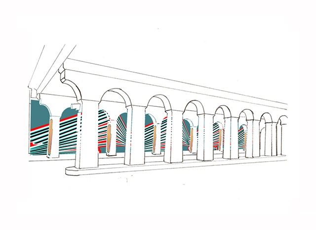 Wall St. Mural Proposal Drawing