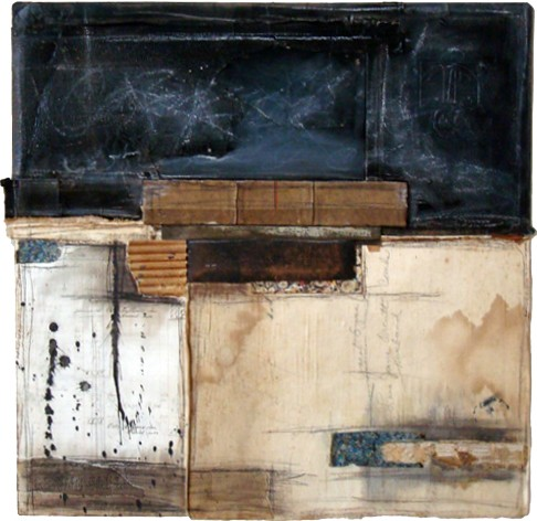 Crystal Neubauer Collage Mixed Media  Fine Art 24 x 24 A Clean Slate