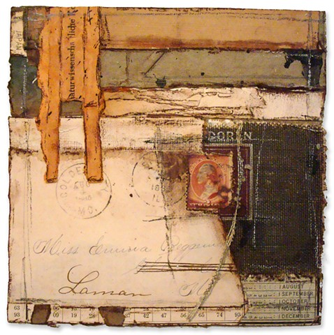 Crystal Neubauer Mixed Media Collage Art Ephemera