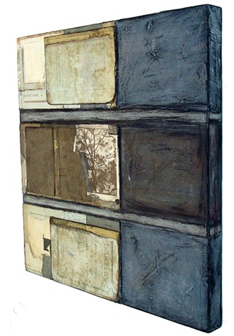 Crystal Neubauer Collage Oil Paint Mixed Media Fine Art Salvaged