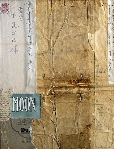 Crystal Neubauer Original Fine Art Collage Matted Mixed Media