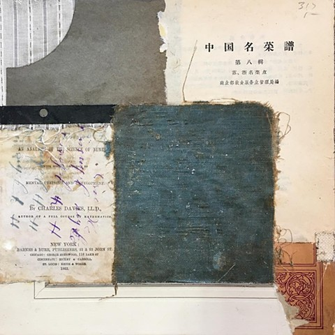 crystal neubauer collage mixed media art salvaged antique paper contemporary modern art