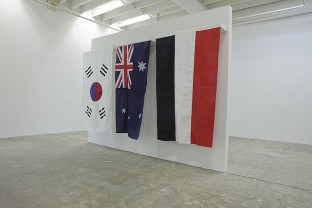 Gloria Patri (standing in the rouse of control) Installation view (front)