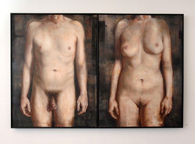 Flawed (Male/Female Diptych)