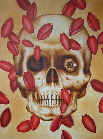 Skull with Petals