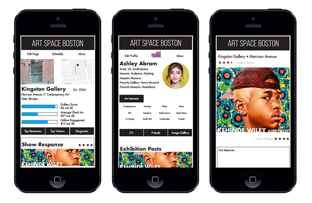 Art Space Boston App Concept