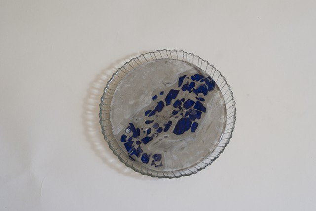 Small Plate With Blue Glass