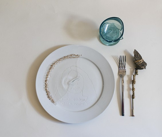 Dinner Setting With Engraved Image