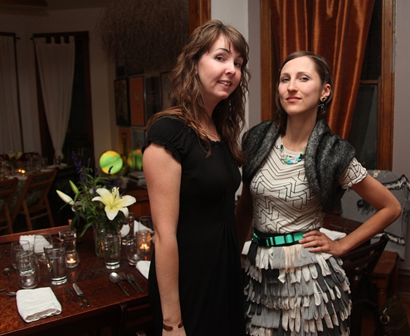 Molly Schaffer and Jenny Kendler of Endangered Species Print Project, September 29th