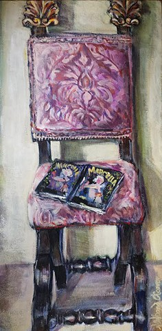 Antique Pink Chair in Portrait