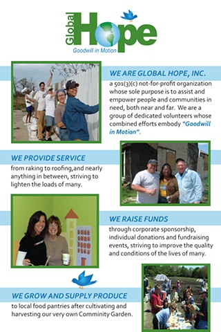 Global Hope, Inc. - Brochure (front)