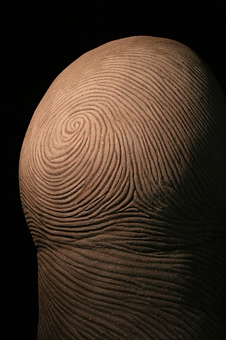 Ceramic sculpture thumb print
