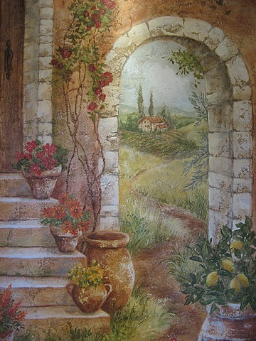Tuscan Niche detail