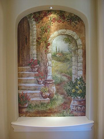 Tuscan Niche mural