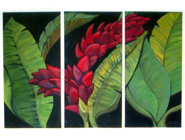 'Jeanie's Ginger' Custom Triptych