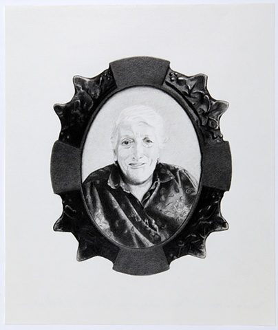 Celia Rocha avo Vitalina grandmother graphite on paper drawing