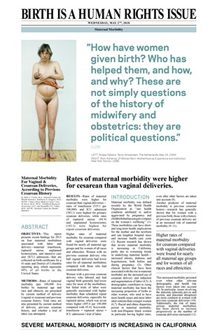 birth is a human rights issue newspaper celia rocha maternal mortality cesarean section
