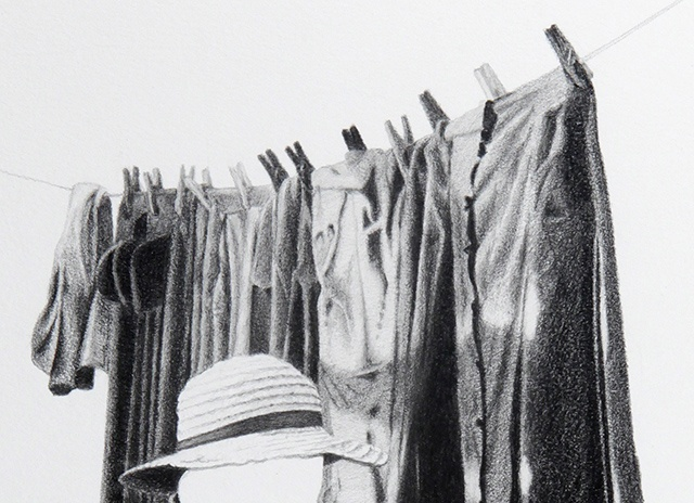 Celia Rocha avo graphite on paper drawing detail