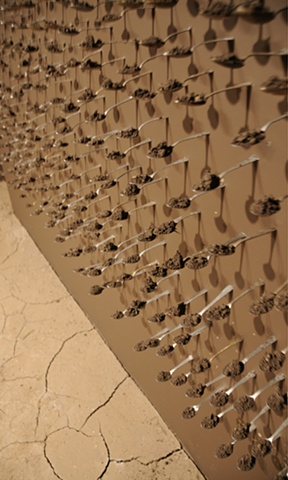 Wall of Spoons Installation