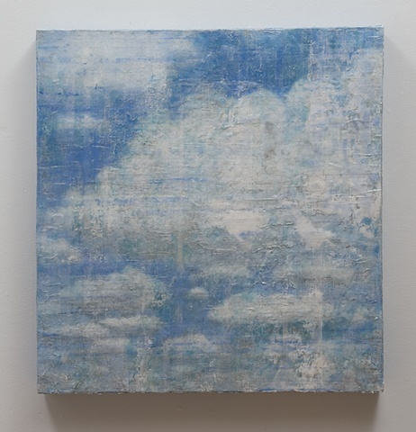 Soap Clouds Painting