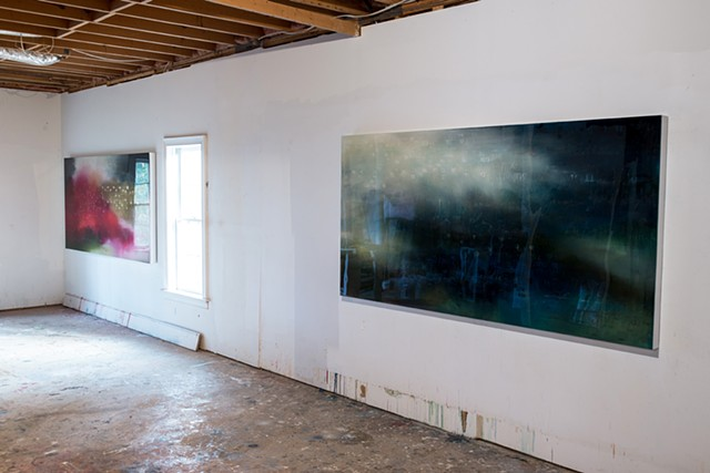"""Undercurrents"" Installation view by fine artist Caroline Bullock, 2013"