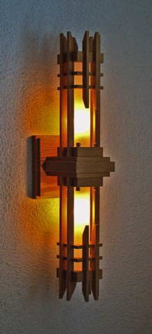 Double Square Tower Sconce