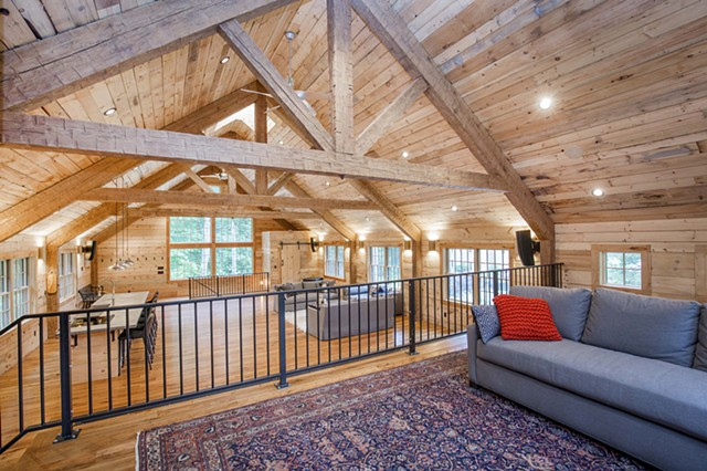 Hoffman Barn Loft Looking West From Stage (garage lift below) - Gary Pearl Photography