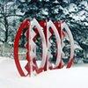 Pods  Outdoor Sculpture at Maudslay 2002 Exhibition Theme: Balance  Snow View in Willemsen / Kulthau Yard 2004