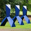 Synthetic Bond  Outdoor Sculpture at Maudslay 2010 Exhibit Theme: Trace  View From Southwest With Paint Effect