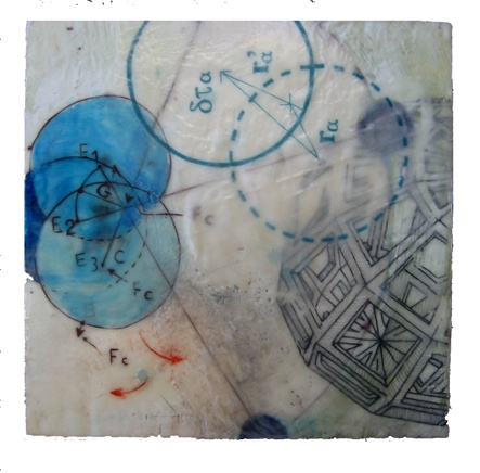 Orbit - encaustic- Carrie Ann Plank