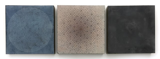 Amperage Variation Wax Triptych