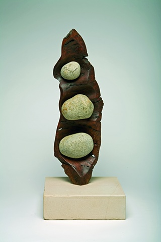 art sculpture australian timber stone river organic