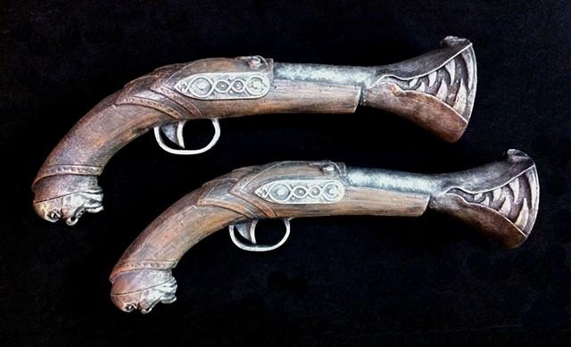 steampunk blunderbuss pistol prop fantasy gun