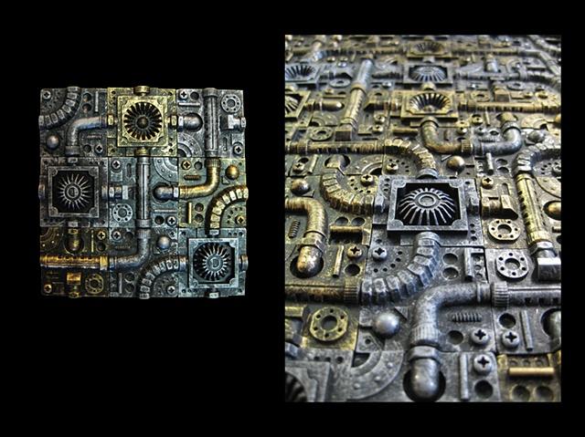 Cast Plastic Tech Tiles (Small)