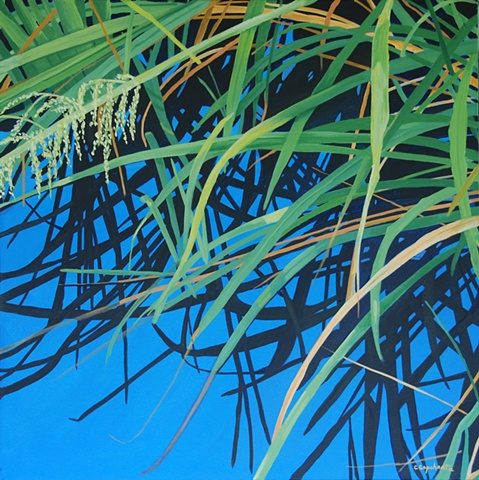 Lake Alice Grasses VI painting by Cindy Capehart