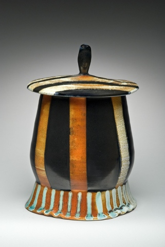Striped Storage Jar
