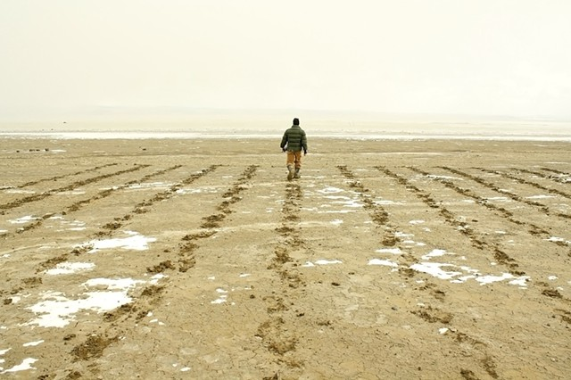 13 rows,13 paces long one pace apart, walked in the mudflats of Summer Lake, Oregon