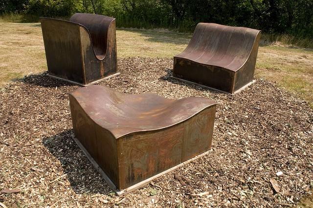 Group installed at Stone Quarry Hill Art Park, Cazenovia, NY