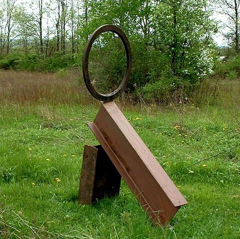 Zen Target, steel outdoor sculpture