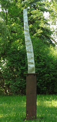 Cascade, Stainless steel waterfall outdoor sculpture