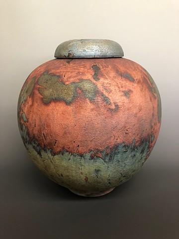 Medium  Round Lidded Copper Mat