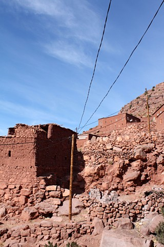 Electrical Lines in the Atlas Mountains