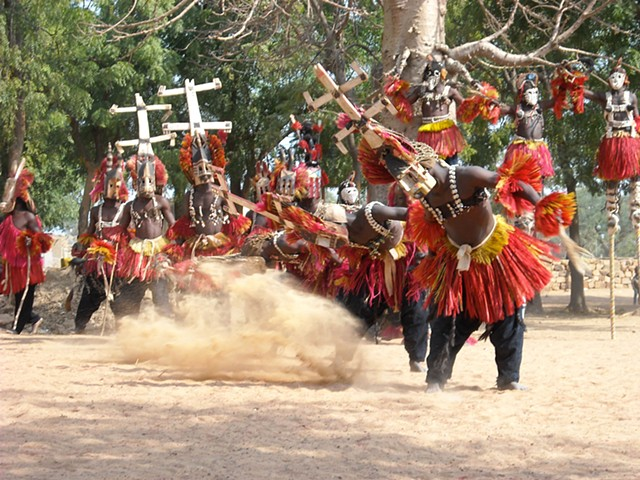 Traditional Dance with Kanaga Masks